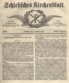 Schlesisches Kirchenblatt, 1857, Jg. 23, nr 6