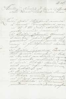 Korespondencja różnych osób z 27.11.1819 r.
