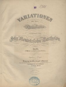 Variationen für das Pianoforte . Op. 82