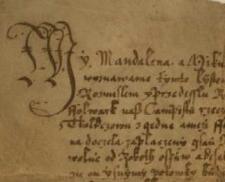 Magdalena i Mikołaj, książęta opolscy, sprzedają folwark Bełcz kmieciowi Bartkowi Klyszczowi