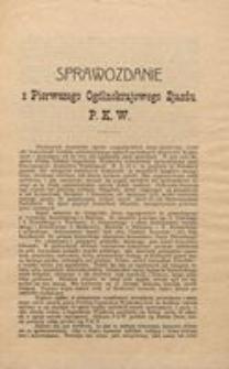 Sprawozdanie z Pierwszego Ogólnokrajowego Zjazdu P.K.W.