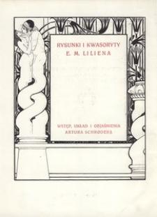 Katalog wystawy E. M. Liliena w Towarzystwie Przyjaciół Sztuk Pięknych we Lwowie 1914