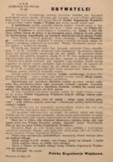 Obywatele! Warszawa, w lutym 1918.