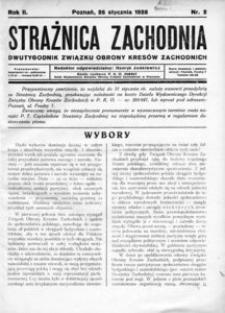 Strażnica Zachodnia, 1928, R. 2, nr 2
