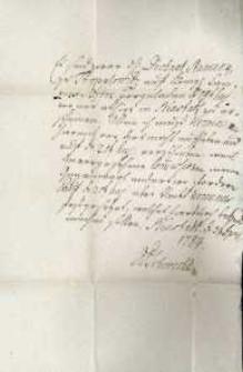 Korespondencja różnych osób z 3.04.1784 r.