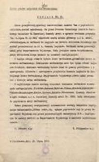 Okólnik Nr 21. Ściśle poufne wyłącznie dla emisariuszy. W Piotrkowie, dnia 13 lipca 1915 r.