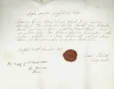 Korespondencja różnych osób z 5.11.1827 r.