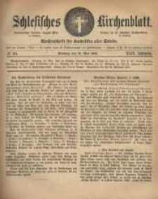 Schlesisches Kirchenblatt, 1883, Jg. 49, nr 20
