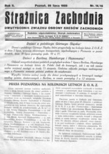 Strażnica Zachodnia, 1928, R. 2, nr 14/15
