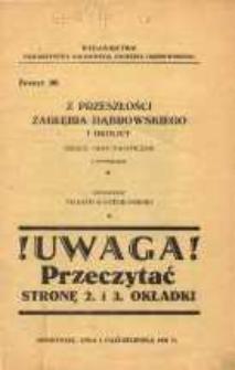 Z przeszłości Zagłębia Dąbrowskiego i okolicy, 1931, T. 1, z. 20
