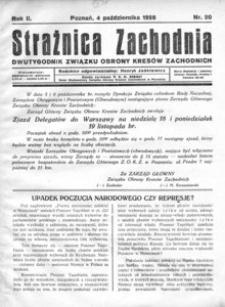 Strażnica Zachodnia, 1928, R. 2, nr 20