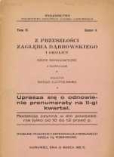 Z przeszłości Zagłębia Dąbrowskiego i okolicy, 1932, T. 2, z. 6