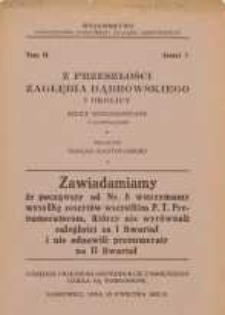Z przeszłości Zagłębia Dąbrowskiego i okolicy, 1932, T. 2, z. 7