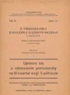 Z przeszłości Zagłębia Dąbrowskiego i okolicy, 1932, T. 2, z. 11