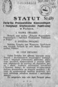 Statut Związku Pracowników Komunalnych i Instytucji Użyteczności Publicznej w Polsce