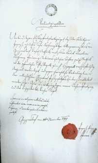 Korespondencja różnych osób z 10.11.1829 r.