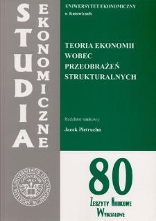 Teoria ekonomii wobec przeobrażeń strukturalnych