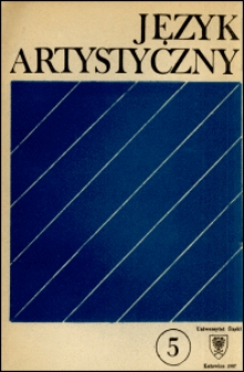 Język Artystyczny. T. 5