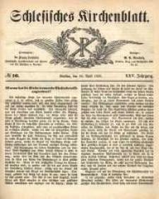 Schlesisches Kirchenblatt, 1859, Jg. 25, nr 16