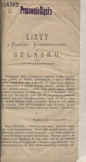 Listy z Podróży Etnograficznej po Szląsku