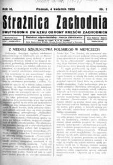 Strażnica Zachodnia, 1929, R. 3, nr 7