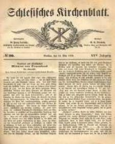 Schlesisches Kirchenblatt, 1859, Jg. 25, nr 20