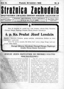 Strażnica Zachodnia, 1929, R. 3, nr 8