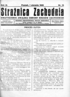 Strażnica Zachodnia, 1929, R. 3, nr 15