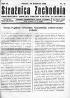 Strażnica Zachodnia, 1929, R. 3, nr 18
