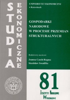Gospodarki narodowe w procesie przemian strukturalnych