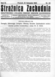 Strażnica Zachodnia, 1929, R. 3, nr 23