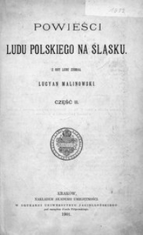 Powieści ludu polskiego na Śląsku. Część 2
