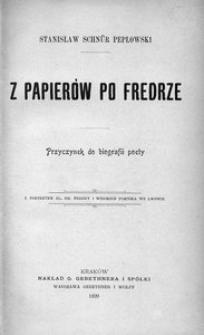 Z papierów po Fredrze. Przyczynek do biografii poety