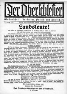 Der Oberschlesier, 1921, R. 3, nr 10