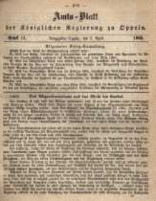 Amts-Blatt der Königlichen Regierung zu Oppeln pro 1865, 50 Bd., nr 14