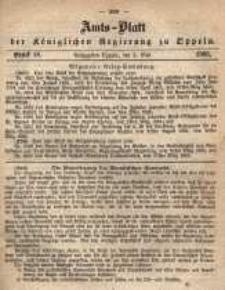 Amts-Blatt der Königlichen Regierung zu Oppeln pro 1865, 50 Bd., nr 18