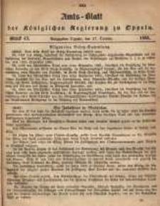 Amts-Blatt der Königlichen Regierung zu Oppeln pro 1865, 50 Bd., nr 43