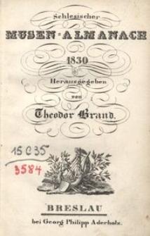 Schlesischer Musen-Almanach für das Jahr 1830, 5. Jg.