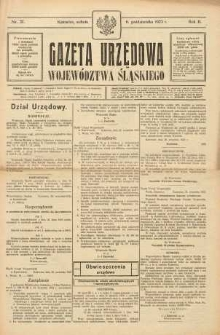 Gazeta Urzędowa Województwa Śląskiego, 1923, R. 2, nr 37
