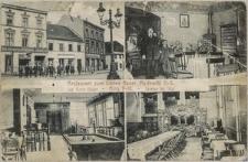"""""""Restaurant zum fidelen Bauer, Myslowitz O.-S. Inh. Ernst Bauer - Ring 9-10. - Telefon No. 506"""""""