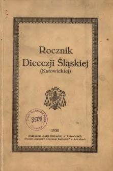 Rocznik Diecezji Śląskiej (Katowickiej), 1930