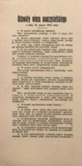 Uchwały wiecu nauczycielskiego z dnia 21 marca 1915 roku