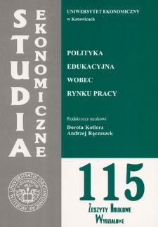 Polityka edukacyjna wobec rynku pracy