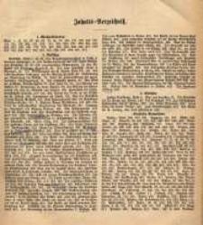 Schlesisches Kirchenblatt, 1867, Jg. 33, Inhalts-Verzeichniss