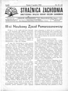 Strażnica Zachodnia, 1932, R. 6, nr 21/22