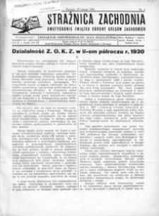 Strażnica Zachodnia, 1931, R. 5, nr 4
