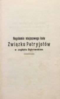 Regulamin miejscowego koła Związku Patryjotów w Zagłębiu Dąbrowskiem