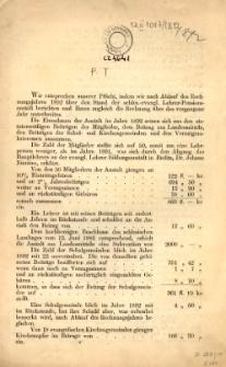 """[Jahresrechnung der """"Schlesische Evangelische Lehrer-Pension-Anstalt"""" in Teschen], 1892"""