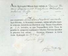 Korespondencja różnych osób z 27.05.1811 r.