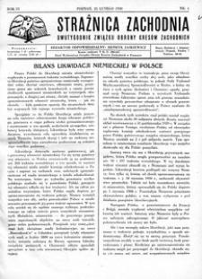 Strażnica Zachodnia, 1930, R. 4, nr 4